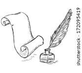 vector sketch illustration  ... | Shutterstock .eps vector #172095419