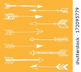 hand drawn doodle tribal arrows  | Shutterstock .eps vector #172095779
