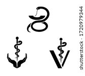 the caduceus is the traditional ... | Shutterstock .eps vector #1720979344