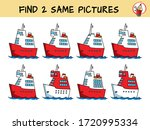 cruise ship. find two the same... | Shutterstock .eps vector #1720995334