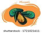 Mussels Isolated On Background...