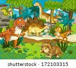 the dinosaur land  ... | Shutterstock . vector #172103315