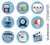 media flat icons for web and...