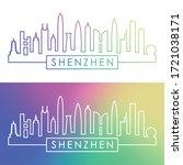Shenzhen Skyline. Colorful...