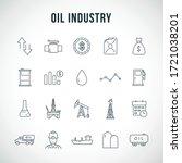 oil industry line icon set. oil ... | Shutterstock .eps vector #1721038201