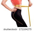 weight losing   measuring woman'... | Shutterstock . vector #172104275