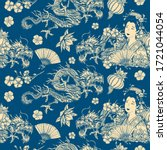china vintage seamless pattern. ... | Shutterstock .eps vector #1721044054