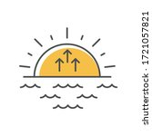 sunrise yellow rgb color icon.... | Shutterstock .eps vector #1721057821