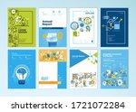 set of brochure  annual report  ... | Shutterstock .eps vector #1721072284