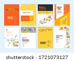 set of brochure  annual report  ... | Shutterstock .eps vector #1721073127