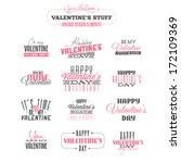 vintage valentine's day  design ... | Shutterstock . vector #172109369