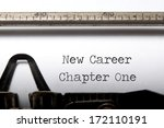 new career  new start concept  | Shutterstock . vector #172110191