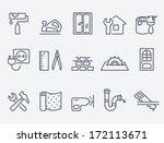 home repair icons | Shutterstock .eps vector #172113671