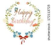 floral frame. vintage frame... | Shutterstock .eps vector #172113725