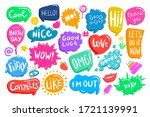 set of colorful speech bubbles... | Shutterstock .eps vector #1721139991