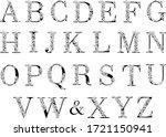 flower alphabet. vector... | Shutterstock .eps vector #1721150941