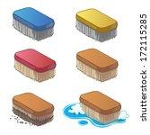 set of cartoon household brush... | Shutterstock .eps vector #172115285