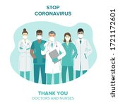 thank you doctors and nurses... | Shutterstock .eps vector #1721172601