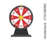 wheel of fortune.simple flat...   Shutterstock .eps vector #1721180581