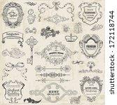 vector set  calligraphic design ... | Shutterstock .eps vector #172118744