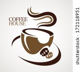 coffee house. | Shutterstock .eps vector #172118951