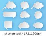 set of blank empty white speech ... | Shutterstock .eps vector #1721190064
