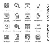 web and seo outline icons  ... | Shutterstock .eps vector #1721190271