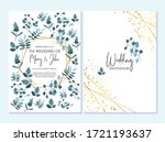 wedding invitation  thank you... | Shutterstock .eps vector #1721193637
