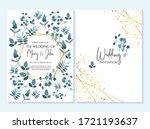 wedding invitation  thank you...   Shutterstock .eps vector #1721193637