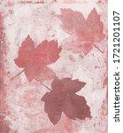 Pink Mapple Leaf Vegetal Art...