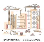 construction building concept... | Shutterstock .eps vector #1721202901