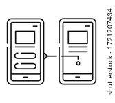 prototype black line icon....