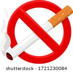 no smoking. cigarette in... | Shutterstock .eps vector #1721230084