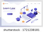 landing page template with book ...   Shutterstock .eps vector #1721238181