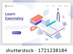 landing page template with... | Shutterstock .eps vector #1721238184