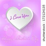 happy valentine's day wallpaper | Shutterstock .eps vector #172124135