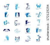 foot print icons set   isolated ... | Shutterstock .eps vector #172125254