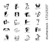 foot print icons set   isolated ...