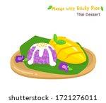 thai dessert mango  with sticky ... | Shutterstock .eps vector #1721276011