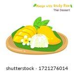 thai dessert mango  with sticky ... | Shutterstock .eps vector #1721276014