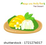 thai dessert mango  with sticky ... | Shutterstock .eps vector #1721276017