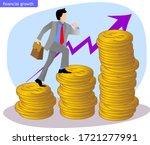 a businessman with his... | Shutterstock .eps vector #1721277991