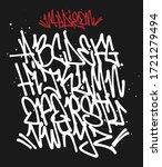 marker graffiti font... | Shutterstock .eps vector #1721279494