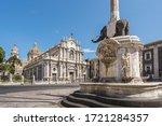 Catania  Sicily  Italy . Dome...