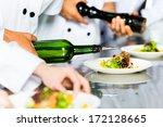 asian indonesian chef along... | Shutterstock . vector #172128665