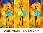 Painting African Girl Ballerina ...