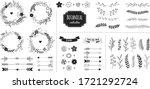 rustic floral design elements.... | Shutterstock .eps vector #1721292724