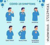 covid 19 symptoms. coronovirus... | Shutterstock .eps vector #1721294161