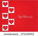 valentines day background | Shutterstock .eps vector #172130591