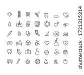 web design linear health icon... | Shutterstock .eps vector #1721315314